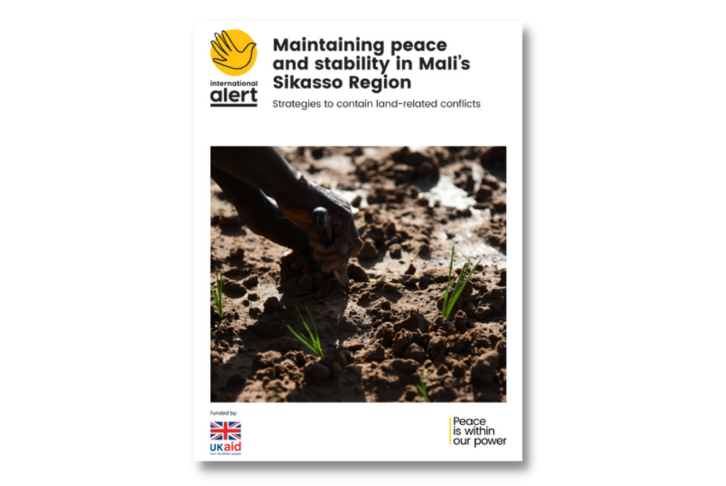 Cover photo for the Maintaining peace and stability in Mali's Sikasso Region report
