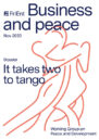 Front cover of report 'Business and peace: It takes two to tango'