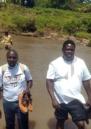 Project team in Kenya cross the river Migori