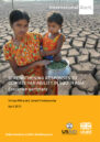 Front cover showing woman and child with cracked bare earth behind them.