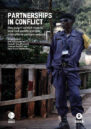 Front cover with photo of a border official on a bridge between DRC and Rwanda.