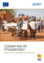 Front cover with photo of African women walking down a street.