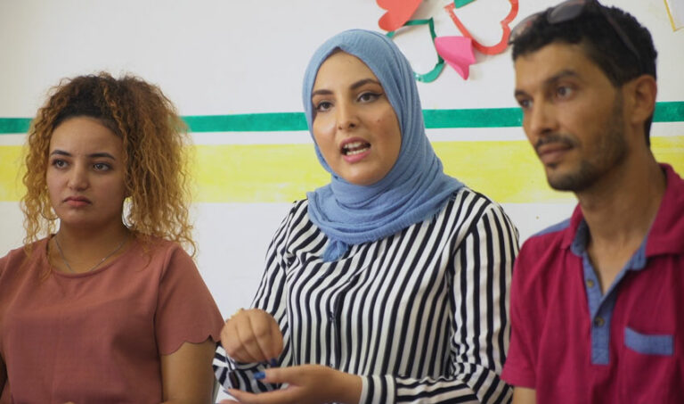 Young people in International Alert Tunisia documentary Feeling what's going on